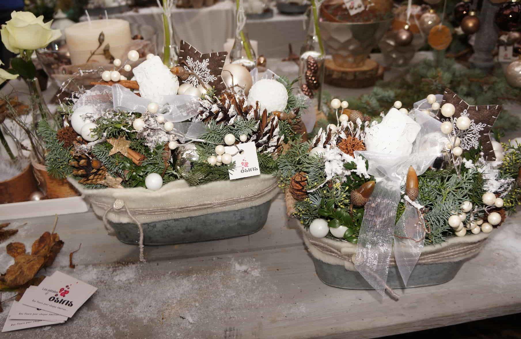 Décoration florale de Noël 06