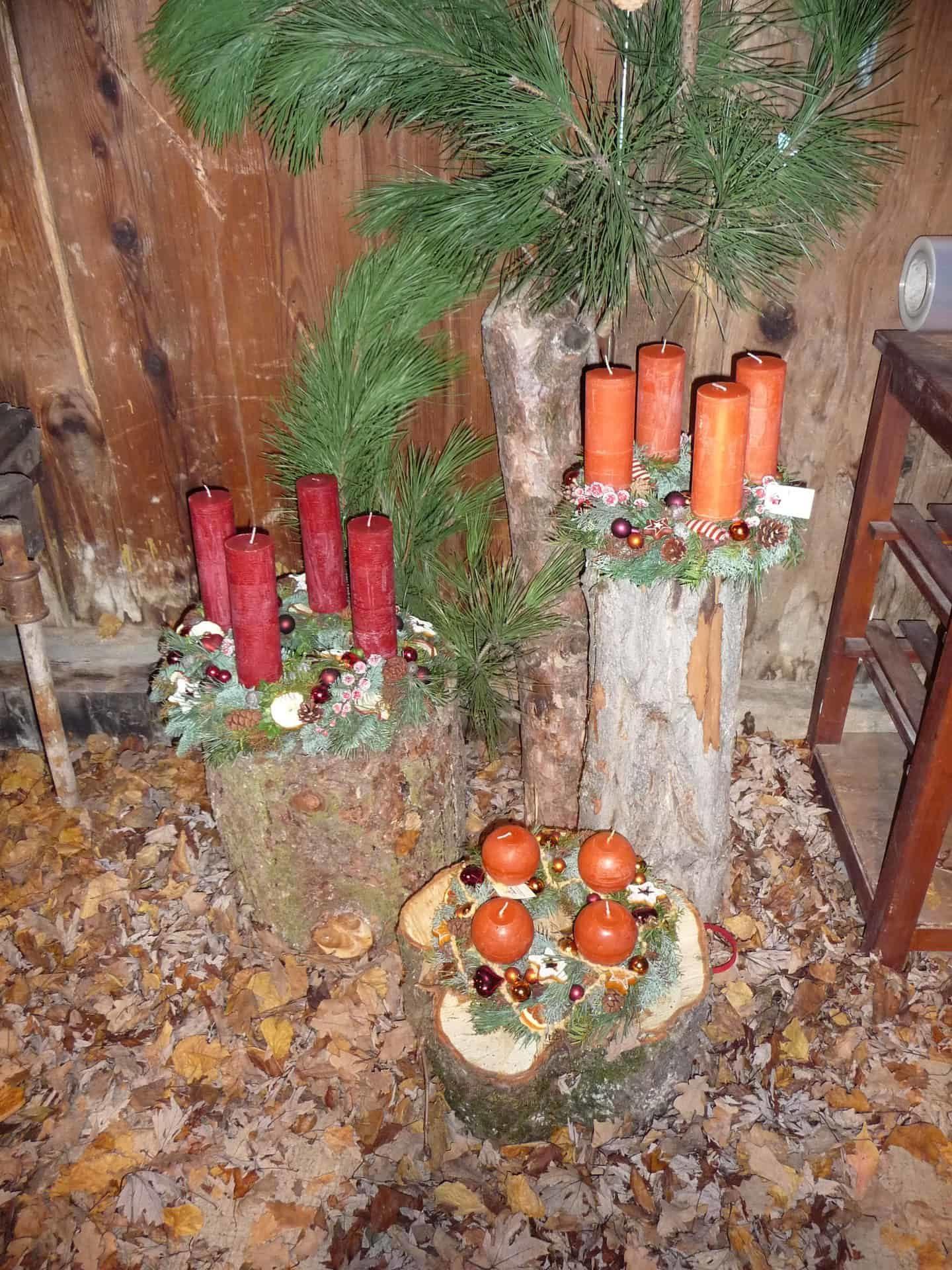 Décoration florale de Noël 10